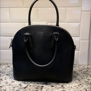 NWOT Authentic kate spade Black Leather Bag